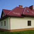 Galeria dach z blachodachówką Bratex Era w kolorze czerwonym