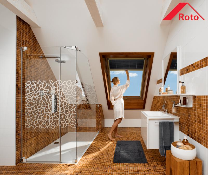 Okna Dachowe Roto Pcv W Okleinie Złoty Dąb Orzech Mahoń