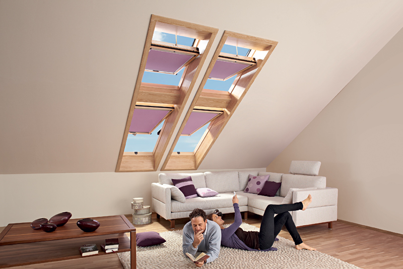 praktyczne okno dachowe designo r6 rototronic sterowane pilotem. Black Bedroom Furniture Sets. Home Design Ideas