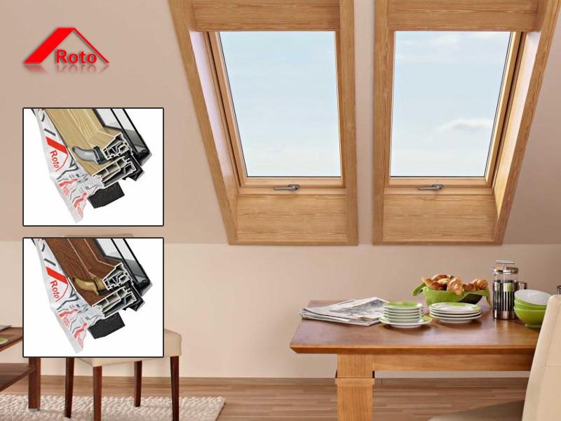 Fantastyczny Okna dachowe ROTO PCV w okleinie złoty dąb, orzech, mahoń, czarny QJ39